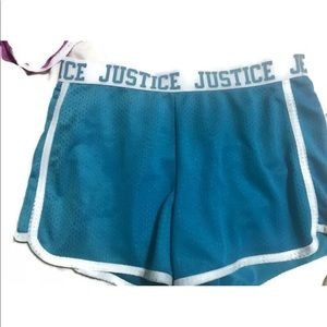 Justice Bottoms - Justice Girls Size 12 Mesh Athletic Shorts